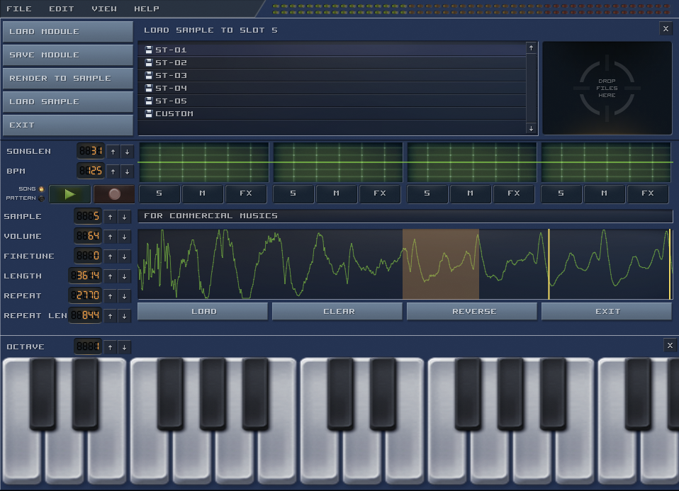 Bassoon Tracker Sample Editor
